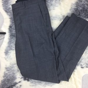 J Crew Slate Grey Wool Dress Pants 33 x 32